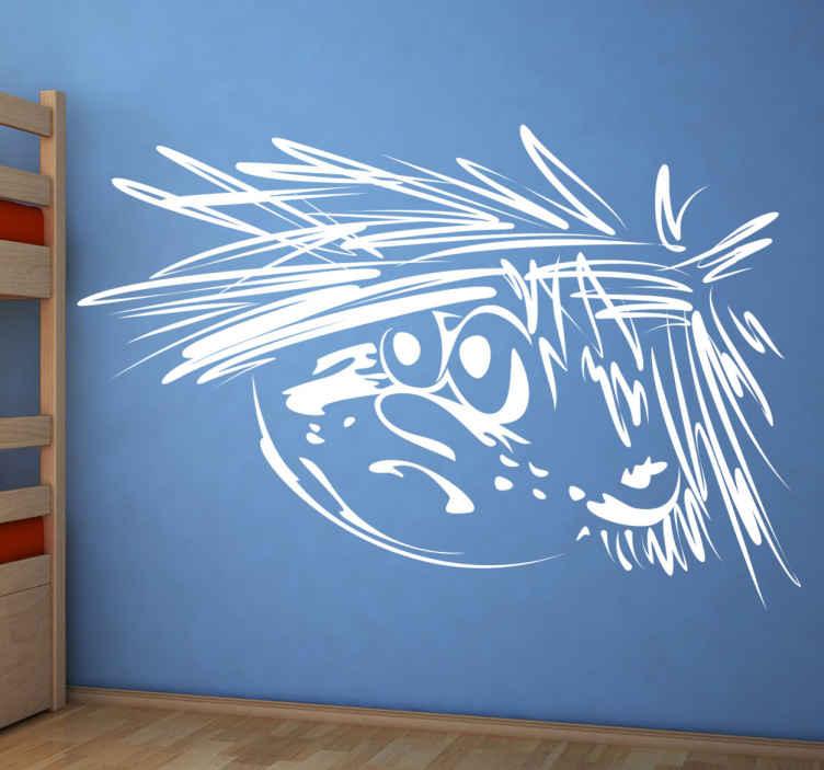 TenStickers. Naklejka rozczochrany chłopiec. Naklejka dekoracyjna przedstawiająca rozczochranego, młodego chłopca. Obrazek dostępny jest w szerokiej gamie kolorystycznej oraz w różnych rozmiarach.