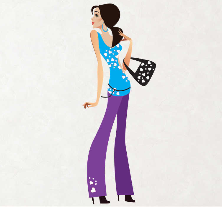 Sticker mode fashion vrouw
