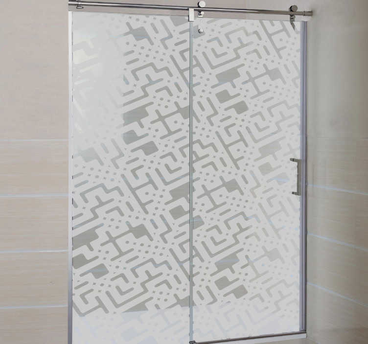 TenStickers. Circuits Shower Sticker. Give a modern touch to your shower with this design from our modern wall stickers collection! A bathroom decal for everyone!
