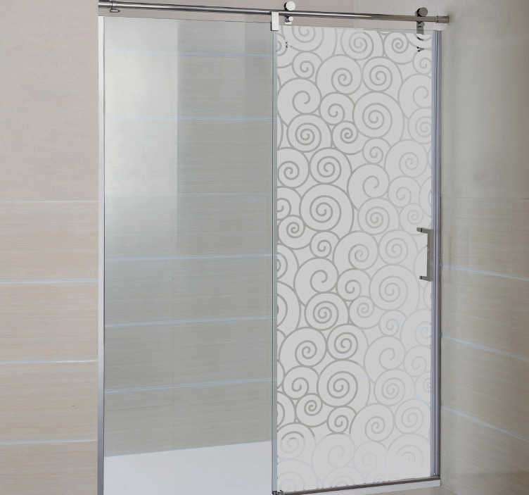 TenStickers. Waves Shower Sticker. Bathroom Stickers - Frosted wave shower sticker design to modernise your home decor while providing you with some privacy in the shower. This translucent wall sticker is perfect for letting a little light into the shower room while not being too much.