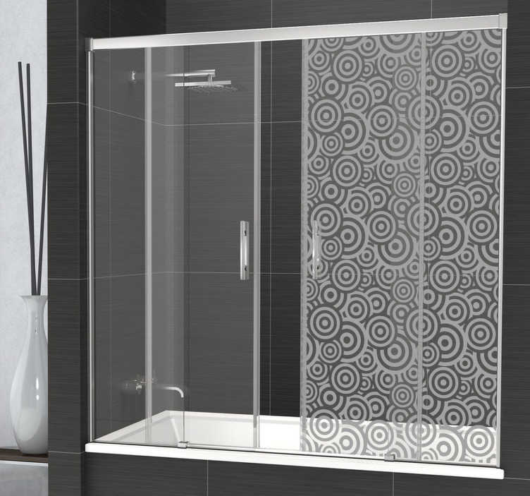 TenStickers. Wave Shower Decal. Preserve your intimacy in your bathroom with this original shower sticker representing various circular shapes.