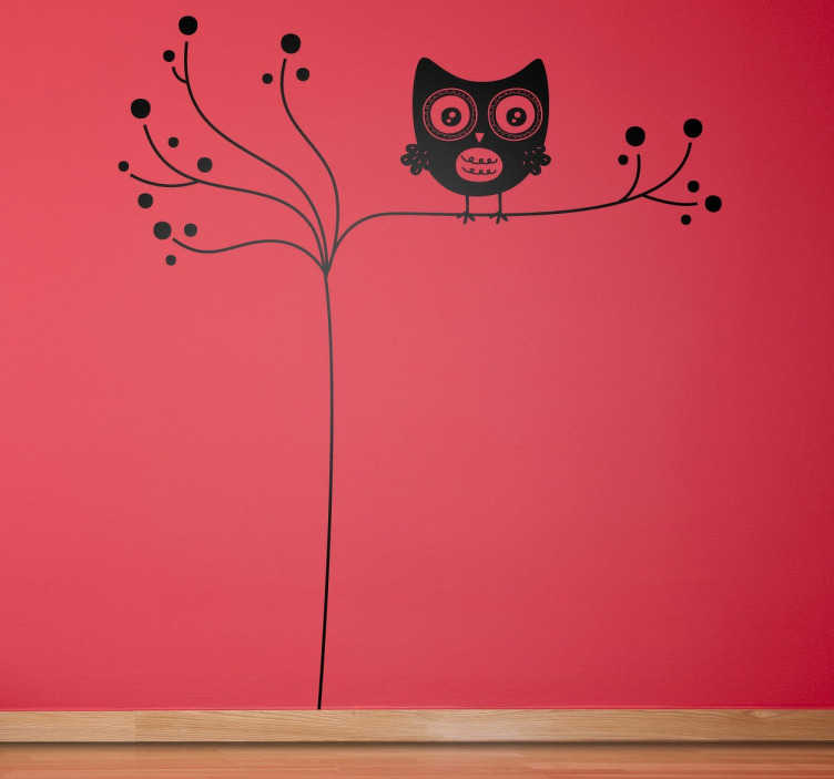 TenStickers. Branch Owl Wall Sticker. A creative and unique design from our exclusive owl wall stickers. A simple and original owl decal to decorate your home!