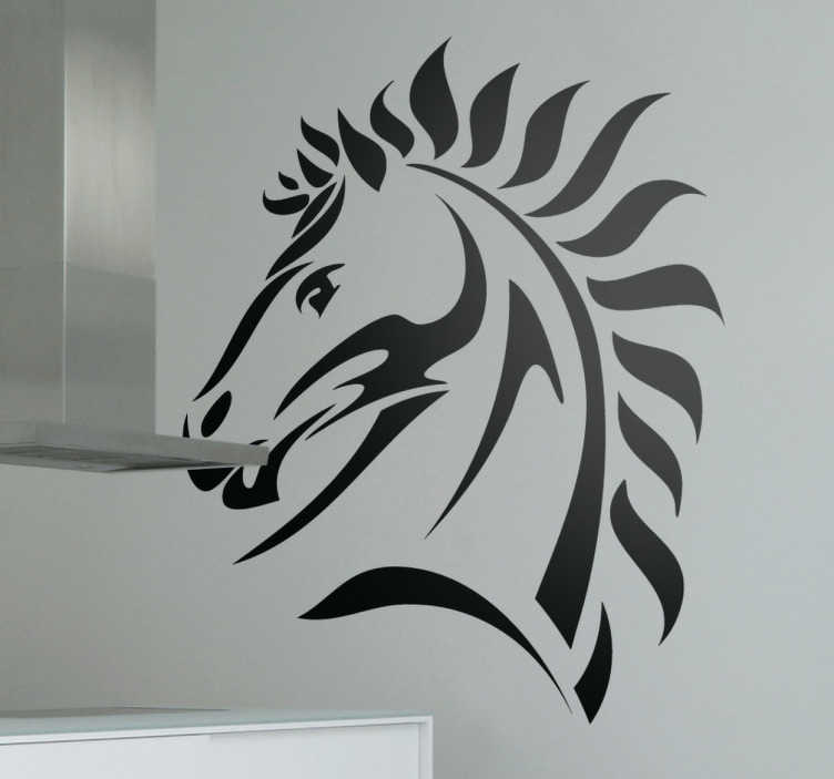 TenStickers. Horse Stallion Head Wall Sticker. A simple but elegant design illustration a horse. If you love horses or need an original decal then this horse wall art sticker is perfect for you!