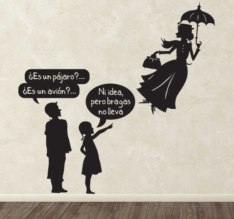 Vinilo decorativo bragas Mary Poppins