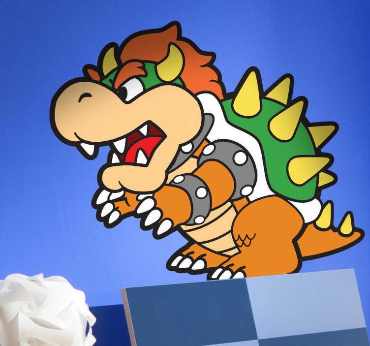 TenStickers. Endgegner Super Mario Aufkleber. Nur noch den Endgegner besiegen, dann ist dieses Level geschafft! Dieses Wandtattoo ist genau das Richtige für alle Super Mario Fans!