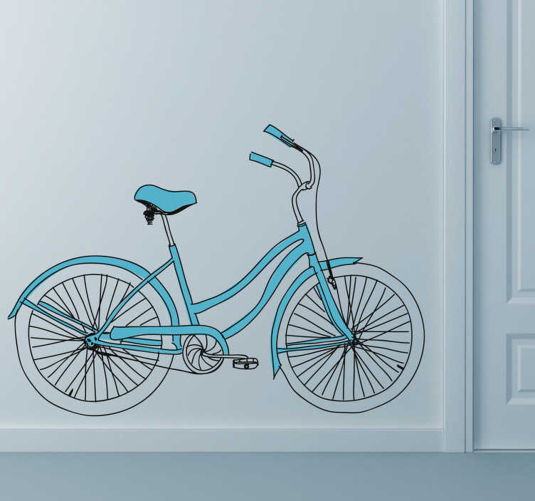 TenStickers. Bike Sport Sticker. A bicycle wall sticker for those cyclists out there! This vintage decal is great for those that love this sport and want to decorate their home.