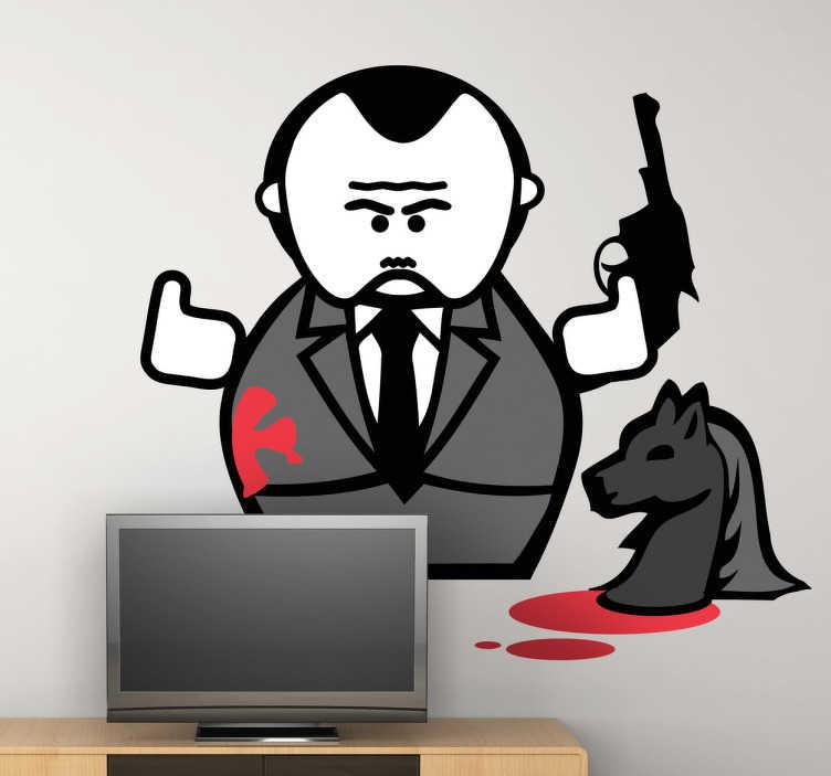 Sticker decorativo Il Padrino comic
