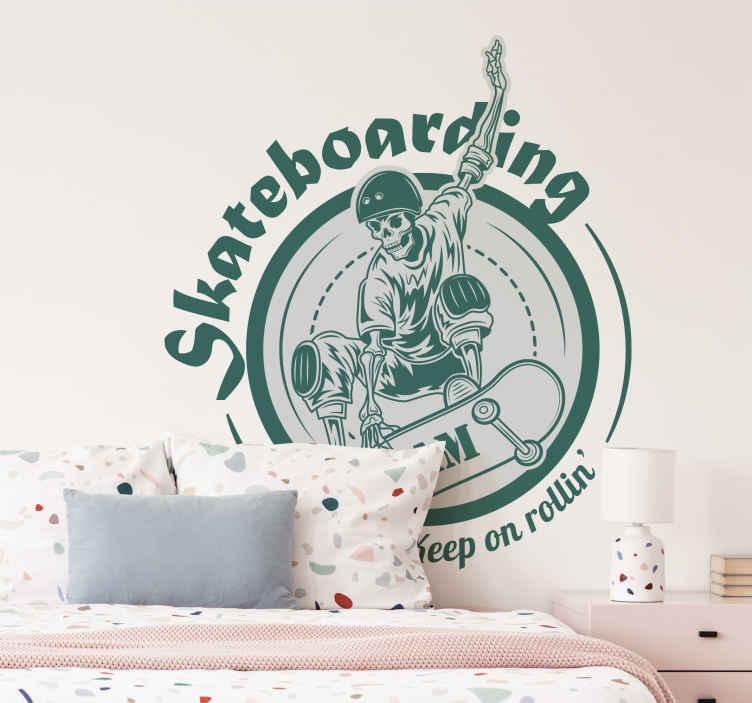 Muurdecoratie Stickers Skateboarden Team Symbool Tenstickers