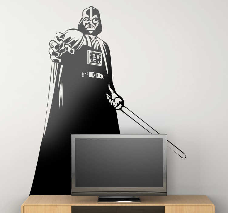 TenVinilo. Vinilo decorativo Darth Vader poder. Espectular adhesivo del alter ego malvado de Anakin Skywalker utilizando su fuerza mental.