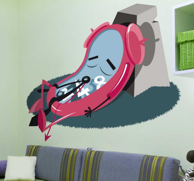 Sticker decorativo orologio in siesta