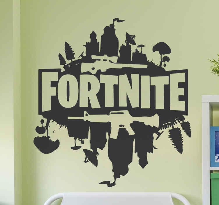 TenVinilo. Vinilo habitación juvenil de Fortnite . ¿Juegas fortnite? Este vinilo habitación juvenil de Fortnite para el hogar que necesita tener en su habitación! ¡Envío exprés disponible!