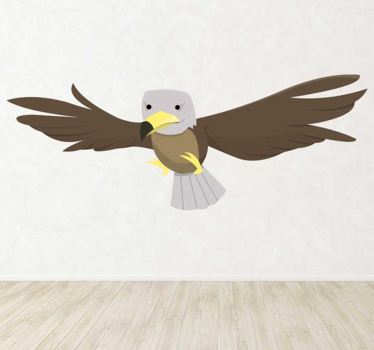 TenVinilo. Vinilo infantil aguilucho. Ilustración de un águila imperial en pleno vuelo. Adhesivo para los amantes de la ornitología.