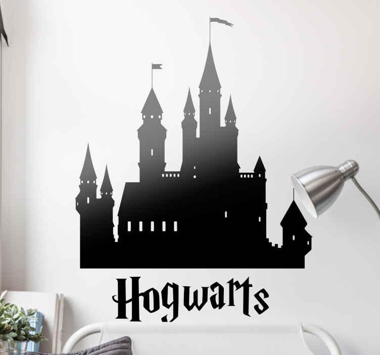 Hogwarts Silhouette Harry Potter Sticker Tenstickers