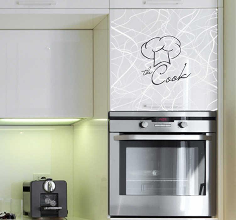 TENSTICKERS. クックウォールステッカー. 家のマスターシェフのためのキッチンウォールステッカー。ユニークで興味深い方法であなたの家をパーソナライズするために様々なサイズと色で利用可能なあなたの台所で、準備、調理と食べ物を食べるための雰囲気を設定するためのモノクロの料理の壁のステッカー。