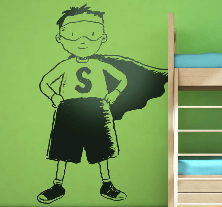 TenStickers. Naklejka dziecięca Superdziecko. Naklejka dekoracyjna, która przedstawia małą wersję Supermana, Superdziecko.