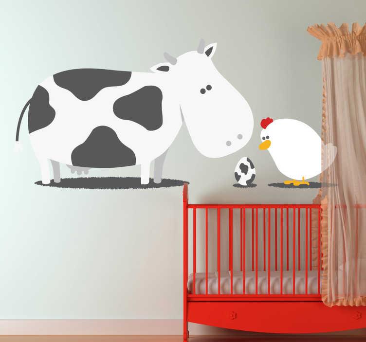 Kindersticker Koe en Kip