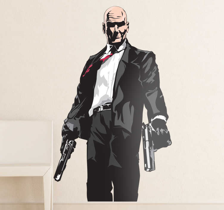 Vinilo decorativo Hitman color