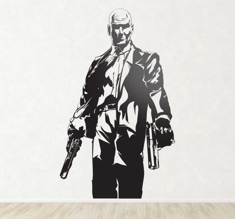 Sticker jeu video hitman monochrome