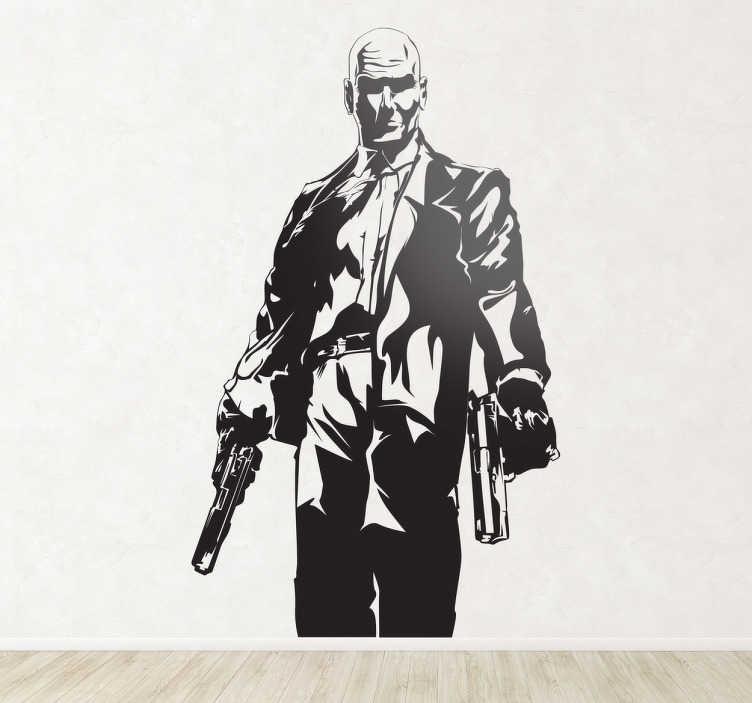 Sticker decorativo silhouette Hitman