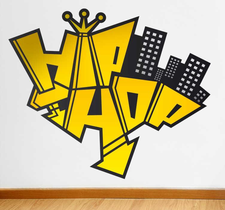 TenStickers. Naklejka na ścianę logo hip hop. Oryginalna naklejka na ścianę z napisem Hip hop. Obrazek dostępny w różnych rozmiarach i w szerokiej gamie kolorystycznej.