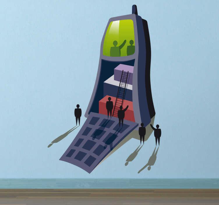 Naklejka dekoracyjna sklep z telefonami