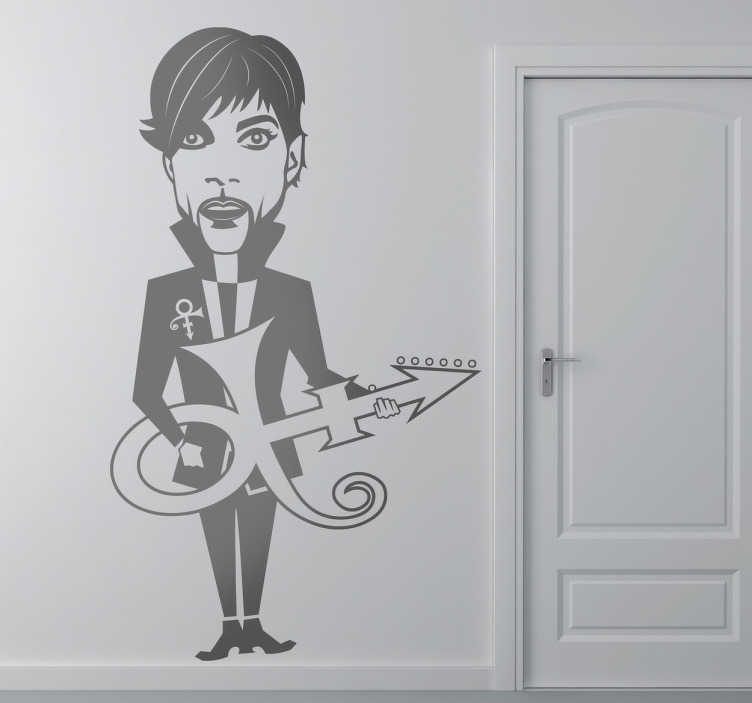 Sticker decorativo caricatura Prince