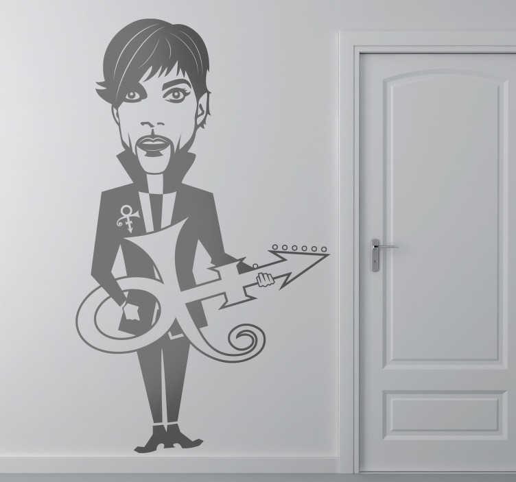 Sticker decorativo caricatura Prince