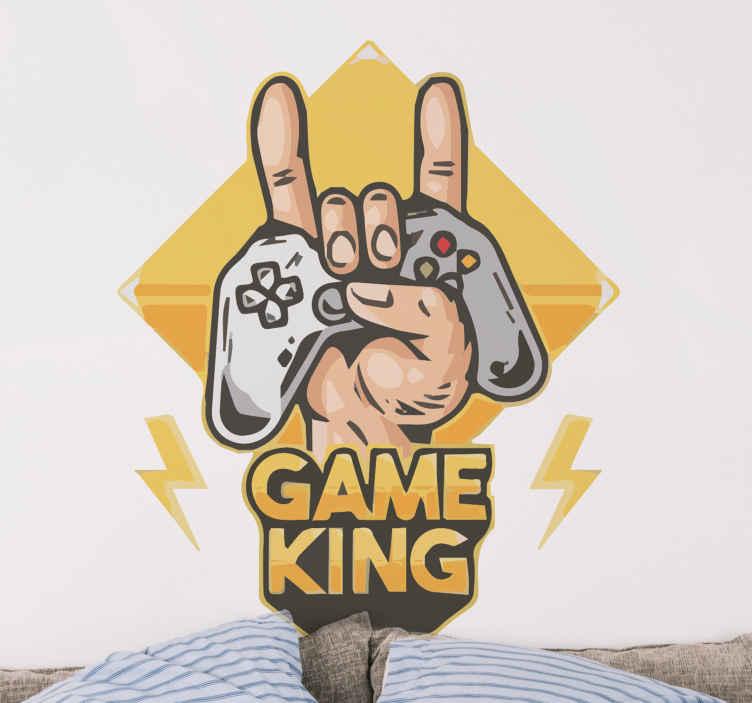 Image of Skin PlayStation Re del gioco a mano con gamepad moderno