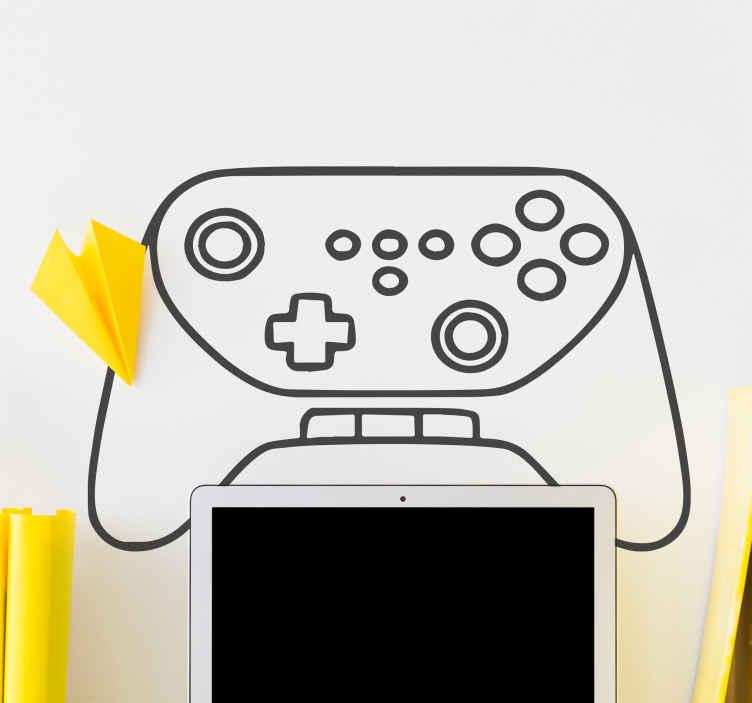Image of Skin PlayStation Joystick schizzo disegnato a mano