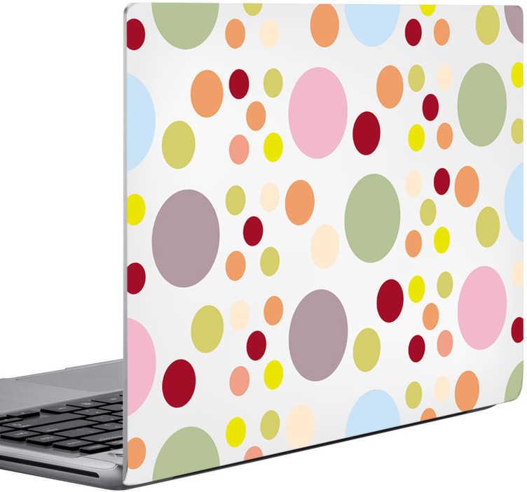 TenStickers. Naklejka na laptop pastelowe kółka. Naklejka na laptop w formie fototapety, przedstawiająca pastelowe kółka w stylu pop.