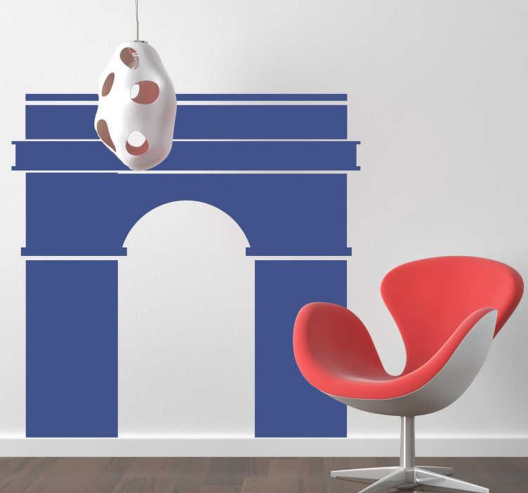 TenStickers. Sticker illustration Arc de Triomphe. Stickers mural illustrant l'Arc de Triomphe de Paris, sur la place de l'Étoile.Super idée déco pour la chambre à coucher.