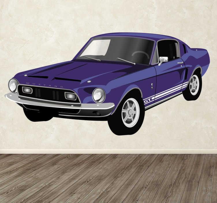 Vinilo decorativo Ford Mustang