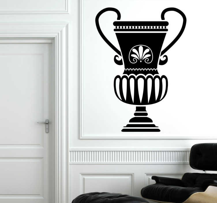 TenStickers. Greek Vase Sticker. A mono-colour design of an ancient Greek vase with a beautifully detailed design.