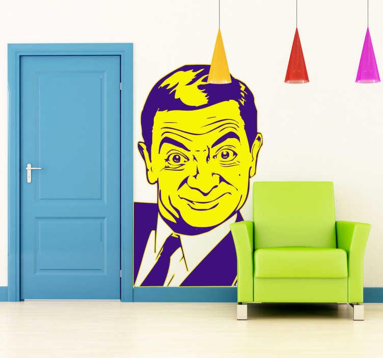 TenVinilo. Vinilo decorativo Mister Bean. Adhesivo de este personaje que ha hecho las delicias de los más grandes y más pequeños interpretado por el cómico inglés Rowan Atkinson.