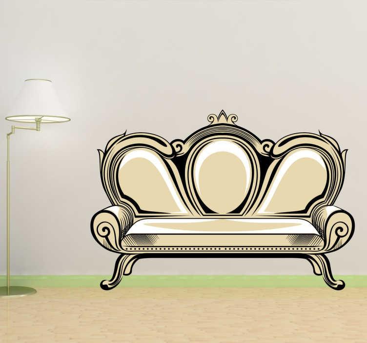 antikes sofa comic aufkleber tenstickers. Black Bedroom Furniture Sets. Home Design Ideas
