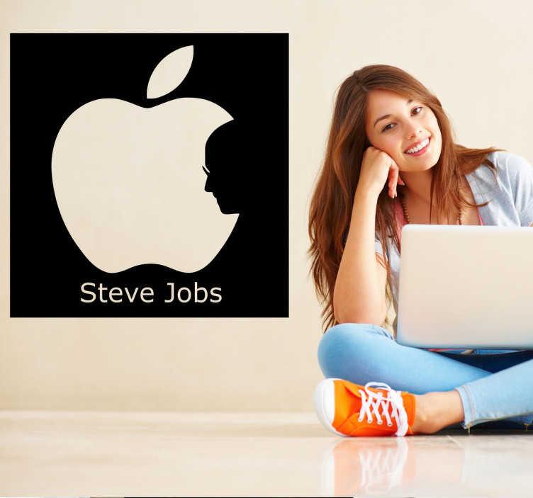 TenVinilo. Vinilo decorativo Steve Jobs Apple. Si eres fan de los productos de los de Cupertino y de su fundador te gustará este adhesivo.