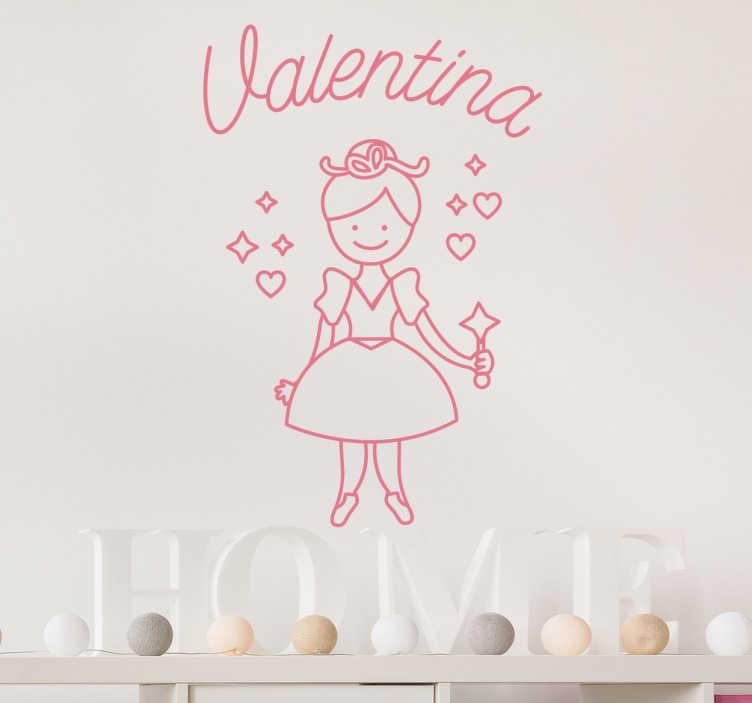 TenStickers. Naklejka na ścianę dla dzieci magiczna wróżka. Wyjątkowa dekoracja do Twojego pokoju, która przedstawia magiczną wróżkę z różdżką.