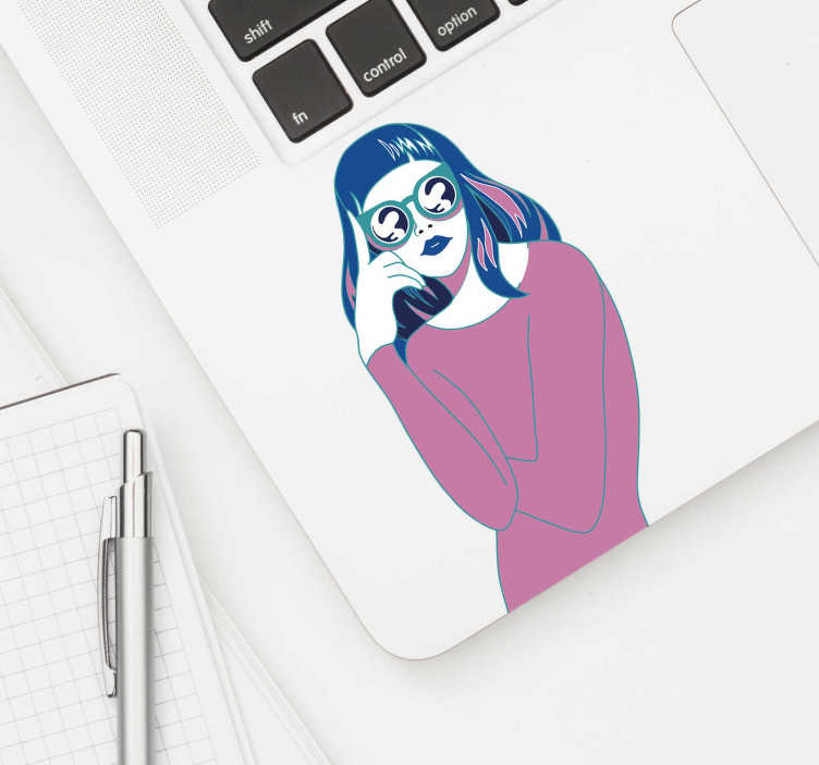 TenStickers. Posh Girl Drawing Wall Sticker. A sketch of a girl posing wearing a fashionable outfit. This sketch sticker is perfect to decorate any place at home or at work.