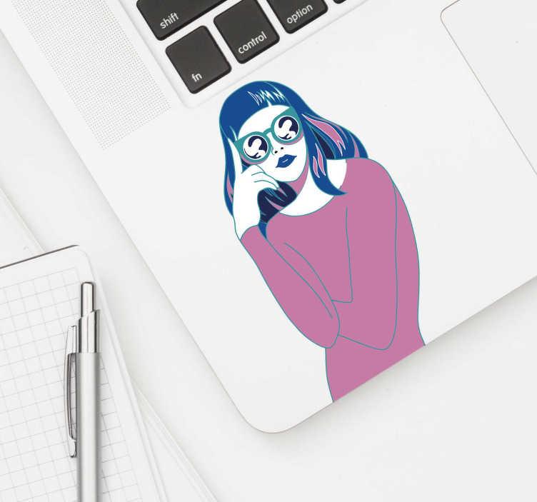 Sticker decorativo ragazza snella 3