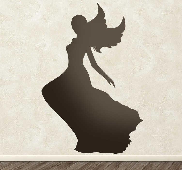 Sticker silhouette fée robe