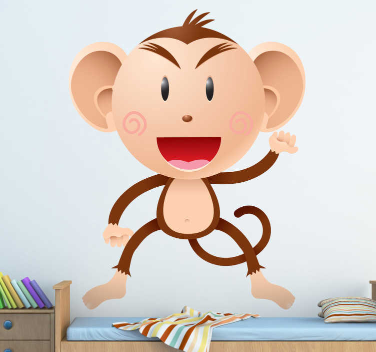 Wandtattoo Kinderzimmer Affe - TenStickers