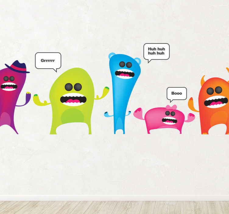 TenStickers. Colourful Monsters Wall Sicker. A great collection of monster wall stickers to decorate any empty space at home. Colorful vinyl decals that your children will love!