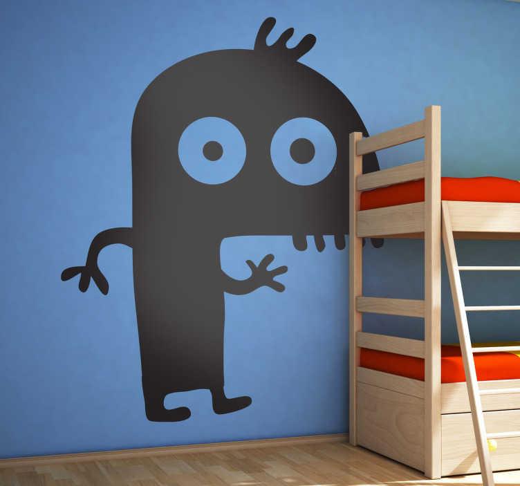 TenStickers. Sticker kinderen leuk monster. Een leuke muursticker van een monster voor in de speelkamer van uw kinderen. Kleur en afmetingen aanpasbaar. Dagelijkse kortingen.