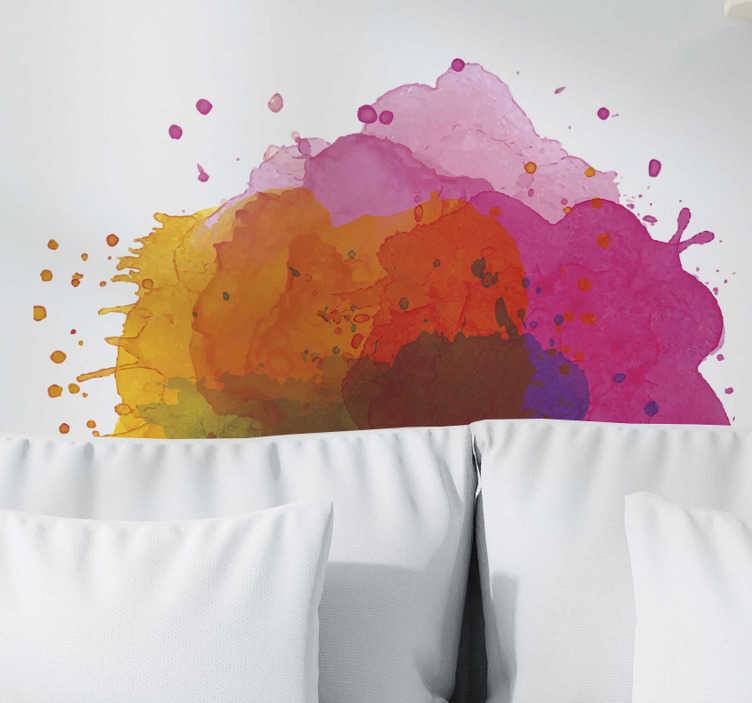 TenStickers. Sticker gekleurd symmetrie. Een explosieve sticker die barst van de volle felle kleuren. Deze sticker kunt u schitterend gebruiken ter decoratie van uw muren.