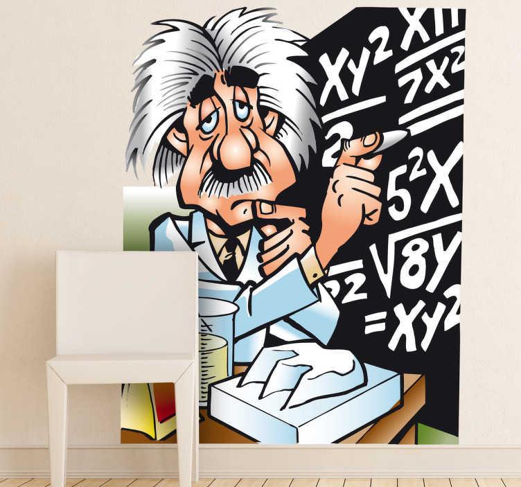 Adesivo bambini Einstein annoiato