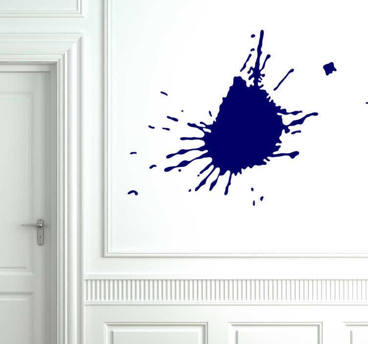 TenStickers. Autocolantes descorativos com padrões lineares Manchas. Decora a tua casa de forma abstrata com este fantástico vinil autocolante decorativo abstratode uma mancha de tinta que se espalha por toda a parede!