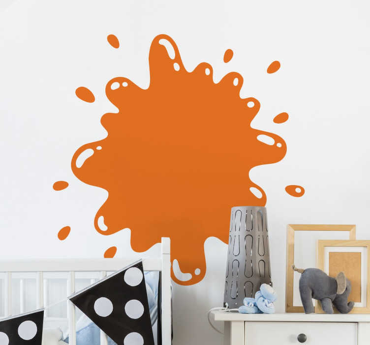 TenStickers. Wandtattoo abstraktes Farbklecks Ornament. Dekorieren Sie das Ihr Zuhause mit diesem Wandtattoo in Form eines abstrakten Ornaments, das einen Farbkleks darstellen soll.