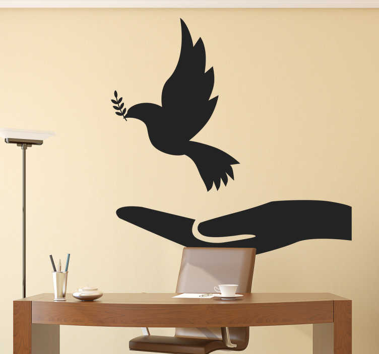 Dove of Peace Wall Decal - TenStickers