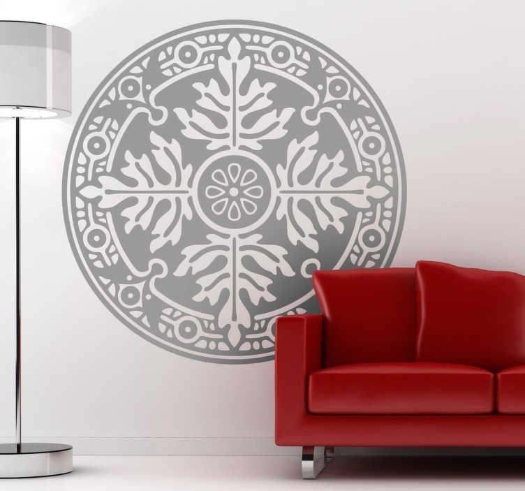 Sticker decorativo emblema floreale