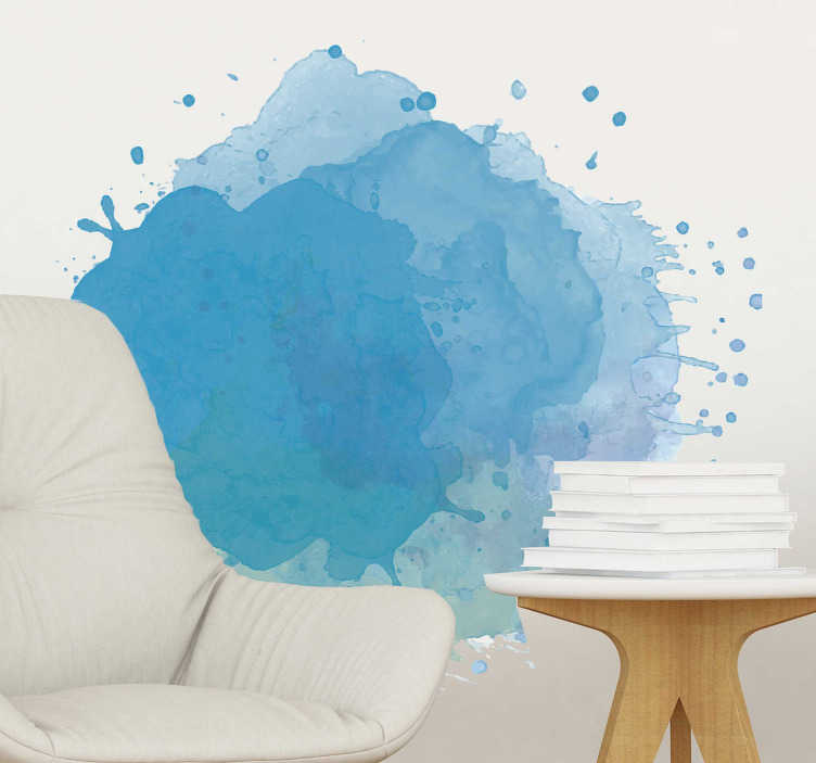 TenStickers. Paint Splash Wall Sticker. A splash of paint on your walls to create a stylish design! This paint splash wall sticker is ideal for those looking for creative wall decorations.